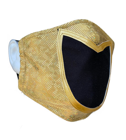 TINIEBLAS GOLD  Lucha Libre novelty Adult size Lycra FACEMASK