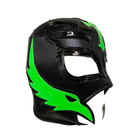 REY MYSTERIO Lucha Libre Wrestling Mask (pro-fit) Black/Hot Green