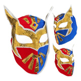 SIN CARA Youth Young Adult Lucha Libre Wrestling Mask - RED/BLUE new