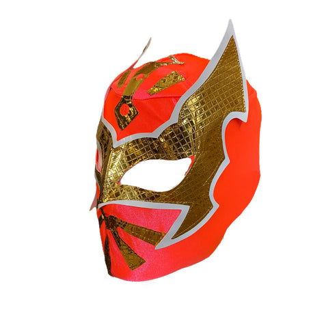 SIN CARA Youth Young Adult Lucha Libre Wrestling Mask - Neon Coral Pink