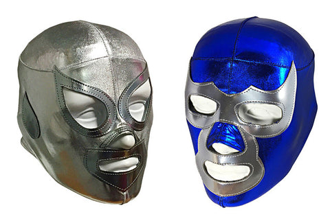 2pk SANTO & DEMON Youth Young Adult Lucha Libre Lycra Wrestling Mask - Lycra