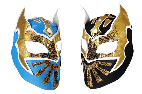 2pk SIN CARA Youth Young Adult Lucha Libre Wrestling Mask - Blue/Black