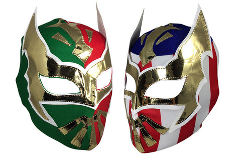 2pk SIN CARA Youth Young Adult Lucha Libre Wrestling Mask - MEX/USA
