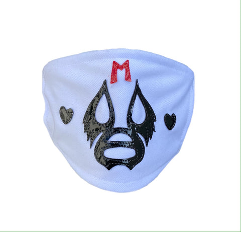 MIL MASCARAS Lucha Libre novelty Adult size FACEMASK - White