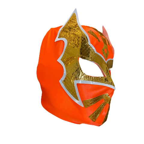 SIN CARA Youth Young Adult Lucha Libre Wrestling Mask - Neon Orange