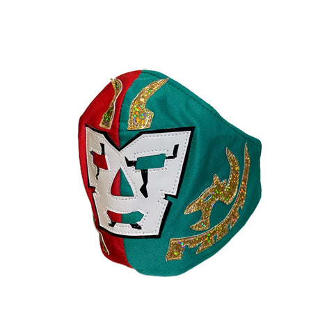 DR. WAGNER Lucha Libre novelty Adult size FACEMASK - Mexico Flag