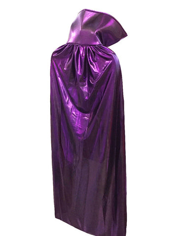 "ADULT LUCHADOR 54"" Lucha Libre Halloween Costume Cape - Metallic Purple"