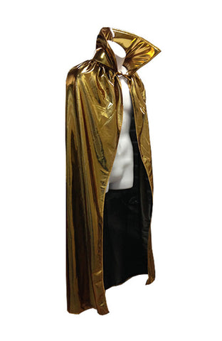 "ADULT LUCHADOR 54"" Lucha Libre Halloween Costume Cape - Metallic Gold"