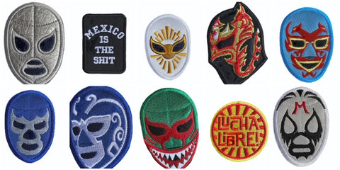 Lucha Libre Iron on Embroidered Print Patches (Multiple Luchador Variations) 3.5""