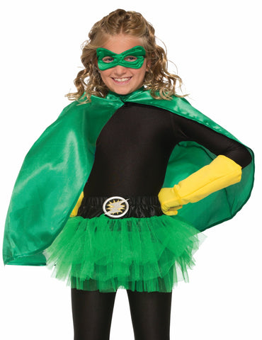 Forum Novelties Kids Halloween Costume Accessory Cape & Eye mask - Green