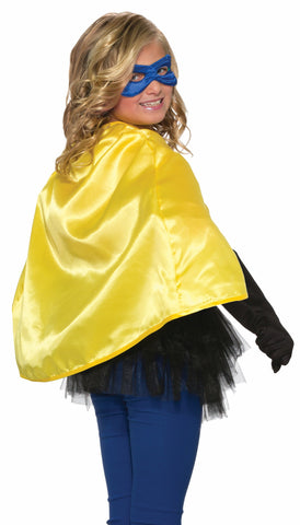 Forum Novelties Kids Halloween Costume Accessory Cape & Blue Eye mask - Yellow