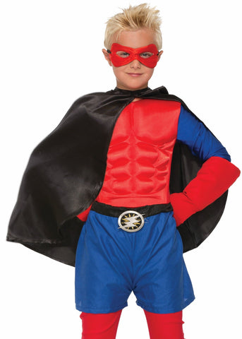 Forum Novelties Kids Halloween Costume Accessory Cape & Red mask - Black