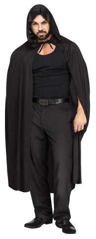 "Hooded Sorcerer Vampire 68"" Costume Halloween cape - Black"