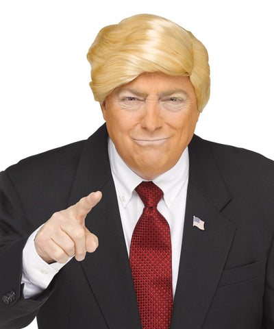 MR. CANDIDATE Comb Over Donald Trump style blonde halloween costume wig ONE SIZE