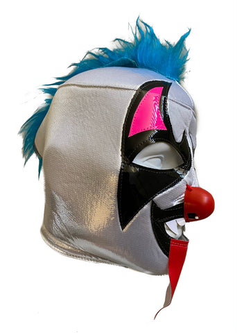 PSYCHO CIRCUS Clown Lucha Libre Wrestling Mask (pro-fit) Blue