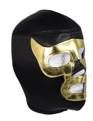 LUCHADOR DEMON Halloween Lucha Libre Wrestling Mask (pro-fit) Black/Gold