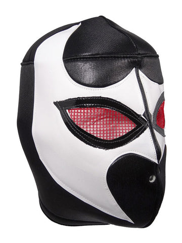 BLACK VIPER Lucha Libre Wrestling Mask (pro-fit) Black/White