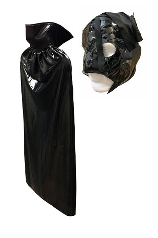 "Lucha Libre Adult Halloween 54"" Cape & Scorpion Mask combo costume - Black"