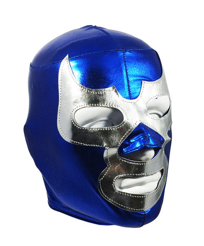 BLUE DEMON (pro-LYCRA) Lucha Libre Wrestling Mask - Blue