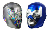 2 Pack SANTO & BLUE DEMON (pro-LYCRA) Adult Lucha Libre Wrestling Mask bundle