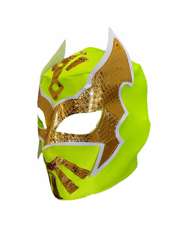 SIN CARA Youth Young Adult Lucha Libre Wrestling Mask - Neon Lime