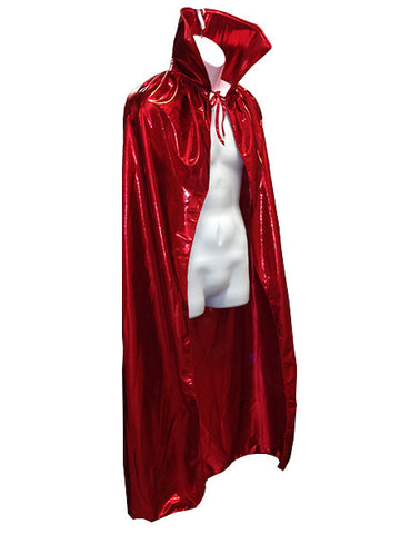 "ADULT LUCHADOR 54"" Lucha Libre Halloween Costume Cape - Metallic Red"