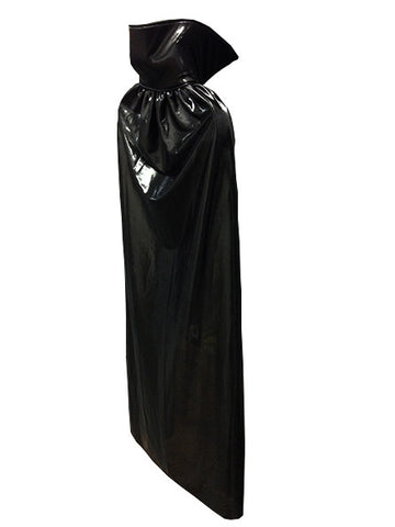 "ADULT LUCHADOR 54"" Lucha Libre Halloween Costume Cape - Metallic Black"