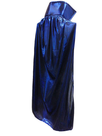 "YOUTH KIDS 30"" Lucha Libre Halloween Costume Cape - Metallic Royal Blue"