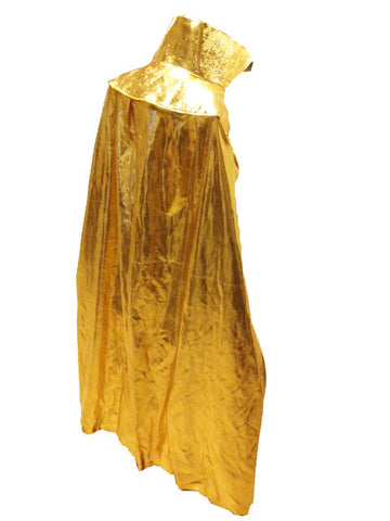 "YOUTH KIDS 30"" Lucha Libre Halloween Costume Cape - Metallic Gold"