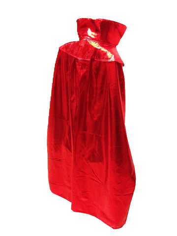 "YOUTH KIDS 30"" Lucha Libre Halloween Costume Cape - Metallic Red"