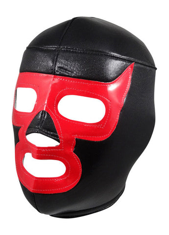 LUCHADOR DEMON Lucha Libre Wrestling Mask (pro-fit) Black/Red