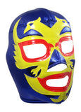 DOS CARAS Lucha Libre Wrestling Mask (pro-fit) Blue/Yellow/Red