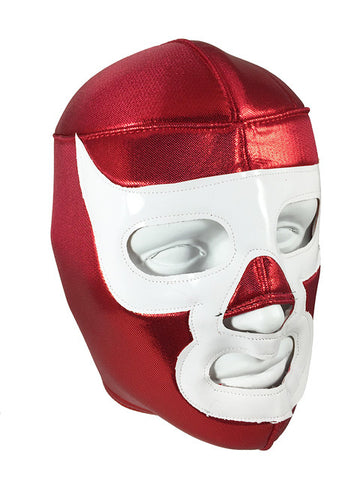 LUCHADOR DEMON Halloween Lucha Libre Wrestling Mask (pro-fit) Red/White