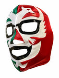 DOS CARAS Lucha Libre Wrestling Mask (pro-fit) Red/Green