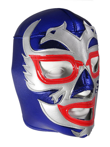 DOS CARAS Lucha Libre Wrestling Mask (pro-fit) Blue/Grey