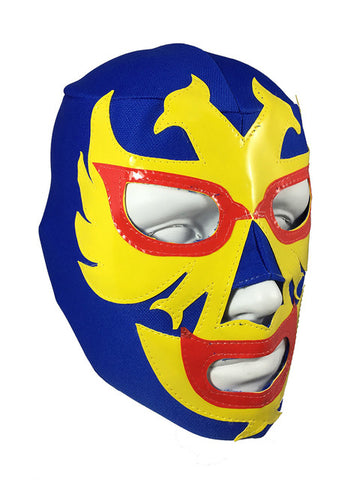 DOS CARAS Youth Young Adult Lucha Libre Wrestling Mask - Blue/Yellow