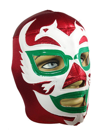 DOS CARAS Lucha Libre Wrestling Mask (pro-fit) Red/White/Green