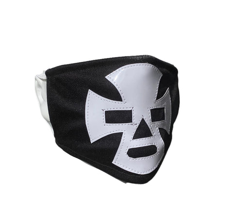 ESPANTO Lucha Libre novelty Adult size FACEMASK - Black/White
