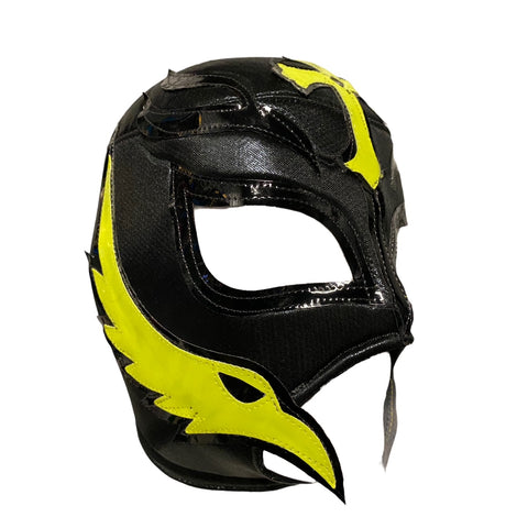 REY MYSTERIO Lucha Libre Wrestling Mask (pro-fit) Black/Hot Yellow