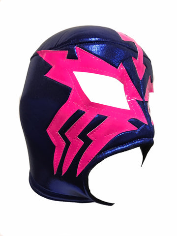 ELECTRICO Lucha Libre Wrestling Mask (pro-fit) Blue/Hot Pink