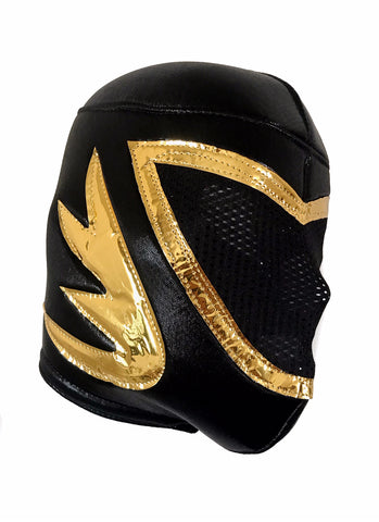 TINIEBLAS Lucha Libre Wrestling Mask (pro-fit) Black/Gold