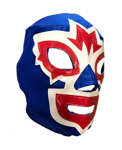 Mask Maniac Adult Lucha Libre Wrestling Mask - Blue/White/Red