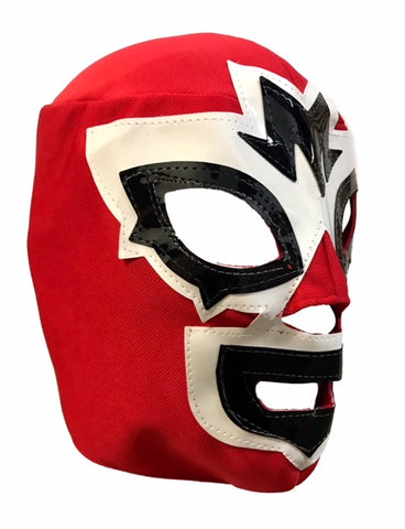 Mask Maniac Adult Lucha Libre Wrestling Mask - Red/White/Black