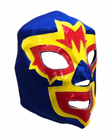 Mask Maniac Adult Lucha Libre Wrestling Mask - Blue/Yellow/Red
