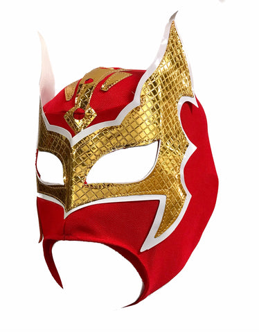 SIN CARA Youth Young Adult Lucha Libre Wrestling Mask - Open Mouth Red