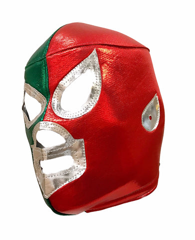 SANTO MEXICOLOR Lucha Libre Adult Wrestling Mask (pro-fit) Red/Green