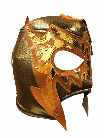 ESCORPION DE ORO Lucha Libre Adult Wrestling Mask (pro-fit) Gold