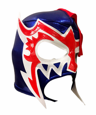 ESCORPION DE ORO Lucha Libre Adult Wrestling Mask (pro-fit) Blue/White