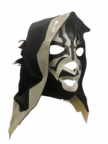 SKELETOR Lucha Libre Wrestling Mask (pro-fit) Black/Grey