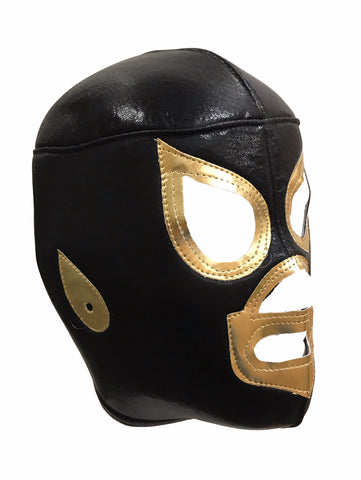 BLACK SAINT Lucha Libre Wrestling Mask (pro-fit) Black/Gold